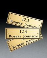 534246750-182 - Solid Brass Engraved Plate - thumbnail