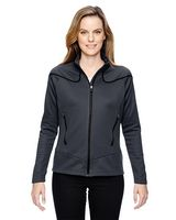 154604476-132 - North End Sport Red Ladies' Interactive Cadance Two-Tone Brush Back Jacket - thumbnail