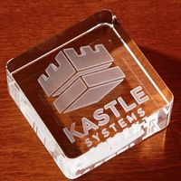 985278188-116 - 3D Crystal Square Paperweight - Large - thumbnail
