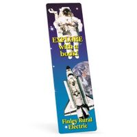 "172861526-183 - Full Color Biodegradable Rectangle Vinyl Plastic Bookmark w/out Slot (0.015"" Thick) - thumbnail"