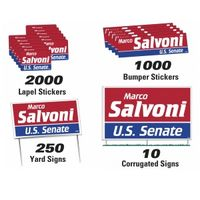 502535926-183 - Political Campaign Kit (250 Yard/ 10 Corrugated/ 1000 Bumper/ 2000 Lapel) - thumbnail