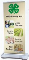534033909-183 - Outdoor Premium Banner Stand w/ Banner - thumbnail