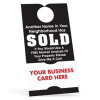 """70564591-183 - Door Hanger w/ Business Card (3 1/2""""x6 3/4"""") White 10 Point Card Stock - thumbnail"""