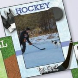 904035574-183 - Sports Hockey Large Photoframeables Wood Photo Frame Decal - thumbnail