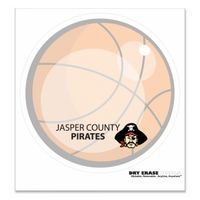 "914035049-183 - Basketball Stock Art Full Color Dry Erase Decals (8"" Diameter) - thumbnail"