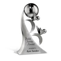 93840138-182 - Medium Partners in Success Stainless Award - thumbnail
