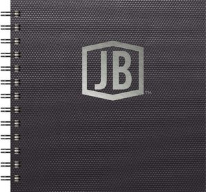 """111398188-197 - Luxury Cover Series 4 Square NotePad w/Black Paperboard Back Cover (7""""x7"""") - thumbnail"""