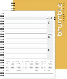 """143319085-197 - Xeo Planner™ w/Leather Front & Chip Back (7""""x8.5"""") - thumbnail"""