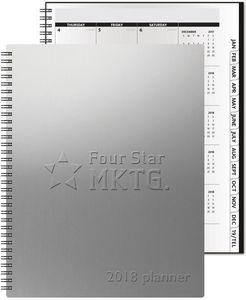 "783319064-197 - TheAnalyst™ Alloy Front Monthly Planner w/Chip Back (8.5""x11"") - thumbnail"