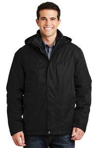 323335284-120 - Port Authority® Men's Herringbone 3-in-1 Parka Jacket - thumbnail