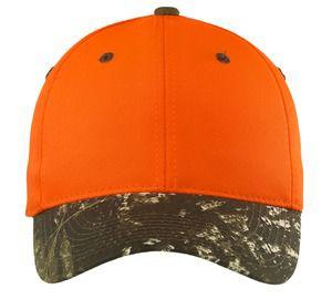 343334338-120 - Port Authority® Enhanced Visibility Cap w/Camo Brim - thumbnail