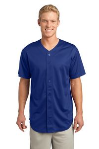 373707777-120 - Sport-Tek® Men's PosiCharge® Tough Mesh Full-Button Jersey - thumbnail