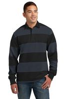 905297933-120 - Sport-Tek® Men's Classic Long Sleeve Rugby Polo - thumbnail