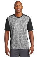 955297889-120 - Sport-Tek® PosiCharge® Electric Heather Colorblock Tee Shirt - thumbnail
