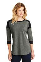 955491225-120 - New Era® Ladies' Heritage Blend 3/4-Sleeve Baseball Raglan Tee - thumbnail