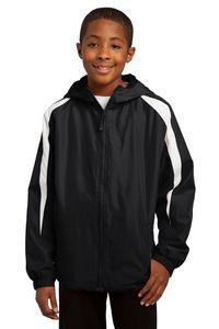 963707805-120 - Sport-Tek® Youth Fleece-Lined Colorblock Jacket - thumbnail
