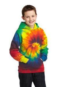 994529015-120 - Port & Company® Youth Tie-Dye Pullover Hooded Sweatshirt - thumbnail