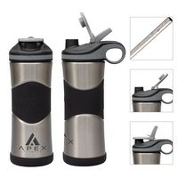 306214560-184 - Wave My Wave 20oz. Double Wall Stainless Steel Water Bottle w/ Copper Lining  - thumbnail
