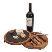 355177991-184 - Normandy Swivel Base Cheese/Wine Set - thumbnail