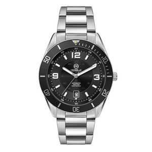 "756501819-184 - Wc8244 42mm Steel Silver Case, 3 Hand ""Automatic"" Mvmt, Black Dial, Dte Display, Bk Rotating Bezel,  - thumbnail"