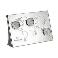 782559442-184 - 3 Time Zone World Clock w/Debossed Map - thumbnail