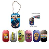 "142868041-819 - Metal Dog Tag w/ 4 1/2"" Chain (Full Color Digital) - thumbnail"
