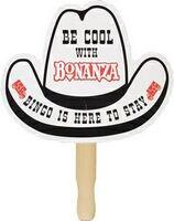501327720-819 - Cowboy Hat Stock Shape Hand Fan - thumbnail