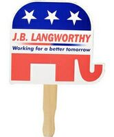 963723749-819 - Stock Elephant Graphics Political Hand Fan - thumbnail