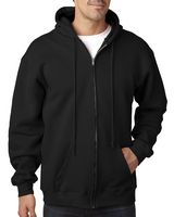 185386393-132 - BAYSIDE Adult 9.5oz., 80% cotton/20% polyester Full-Zip Hooded Sweatshirt - thumbnail