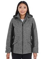 765192019-132 - Devon and Jones Ladies' Midtown Insulated Fabric-Block Jacket with Crosshatch Mélange - thumbnail