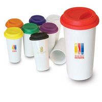 103417411-202 - I'm Not a Big Plastic Cup - White 16 oz double wall ceramic tumbler with silicone lid - thumbnail
