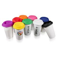 123220549-202 - 10 Oz. I Am Not A Plastic Cup Double Wall White Ceramic Tumbler - thumbnail