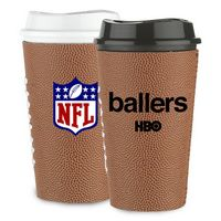 565278043-202 - 16 Oz. Single Wall Tumbler W/Football Sleeve - thumbnail
