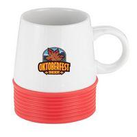 914041088-202 - 16 Oz. Talladega Mug White Double Wall Ceramic Mug - thumbnail
