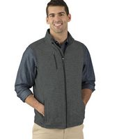965272504-141 - Men's Pacific Heathered Fleece Vest - thumbnail