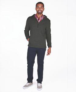 966360019-141 - Men's Heathered Fleece Quarter Zip Hoodie - thumbnail