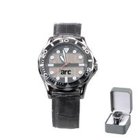 503730158-114 - Solar Power Watch w/ Leather Like Strap - thumbnail