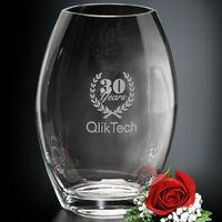 "313388586-133 - Clear Oval Vase 12"" - thumbnail"
