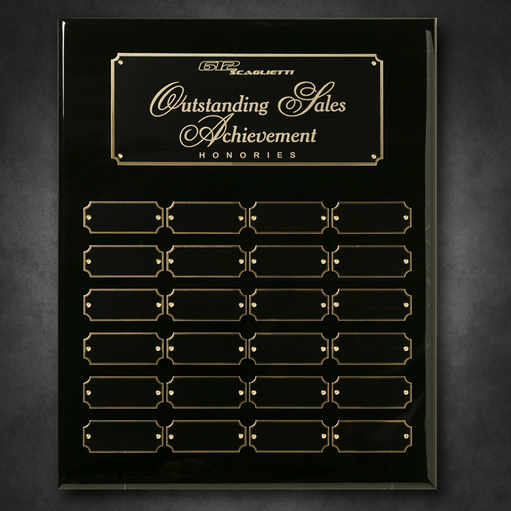 "703102194-133 - Black Piano Finish Perpetual Plaque 12"" x 15"" - thumbnail"