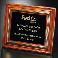 """742556096-133 - Americana Plaque with Black Glass 11-3/4"""" x 9-3/4"""" - thumbnail"""