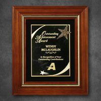 """752865243-133 - Americana Plaque with Velour 13-1/2"""" x 11-1/2"""" - thumbnail"""