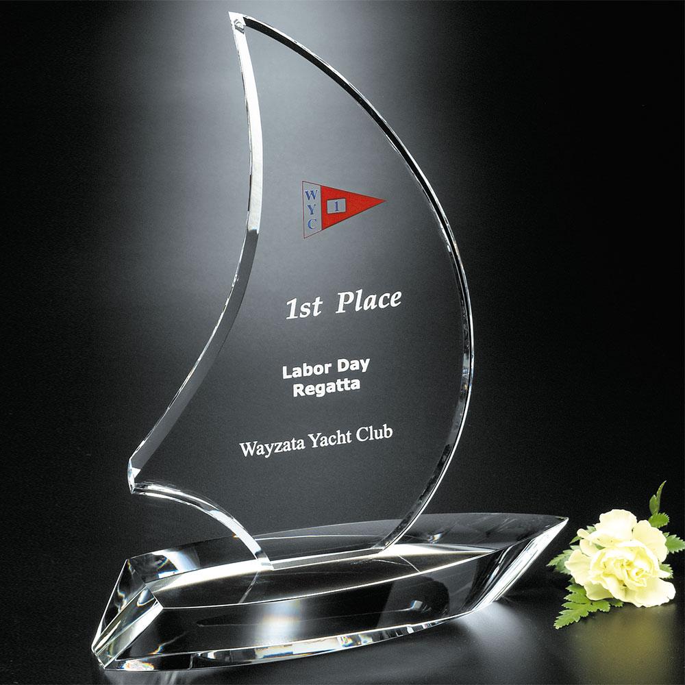"""771339792-133 - Sailboat Award 9-1/4"""" - thumbnail"""