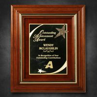 """912865261-133 - Americana Plaque 13-1/2"""" x 11-1/2"""" with Wood Insert - thumbnail"""