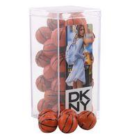 124521607-105 - Acrylic Box w/Chocolate Basketballs - thumbnail