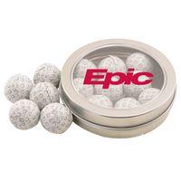 194520701-105 - Round Tin w/Chocolate Golf Balls - thumbnail