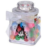 195554569-105 - 8 Oz. Plastic Jar w/ Rainbow Bubble Gum - thumbnail
