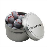 304520972-105 - Round Tin w/Chocolate Baseballs - thumbnail