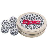 364520695-105 - Round Tin w/Chocolate Soccer Balls - thumbnail