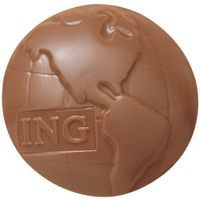 555554184-105 - Molded Chocolate Globe - 1.5 Oz. - thumbnail