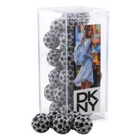 924521604-105 - Acrylic Box w/Chocolate Soccer Balls - thumbnail
